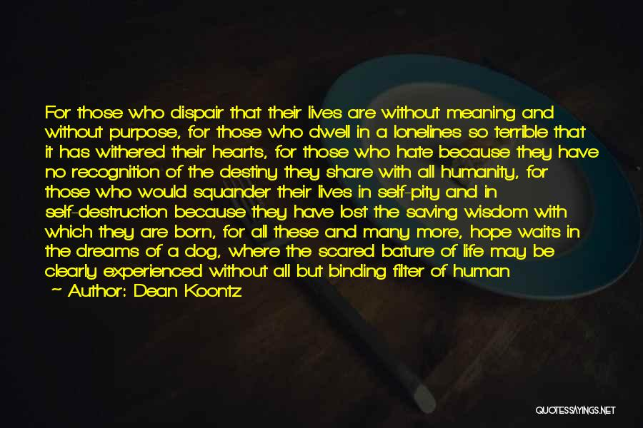 No Humanity Quotes By Dean Koontz