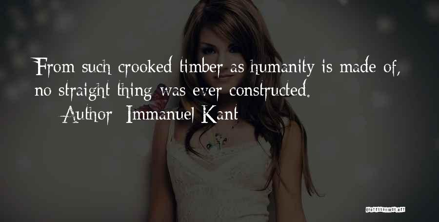 No Humanity Quotes By Immanuel Kant