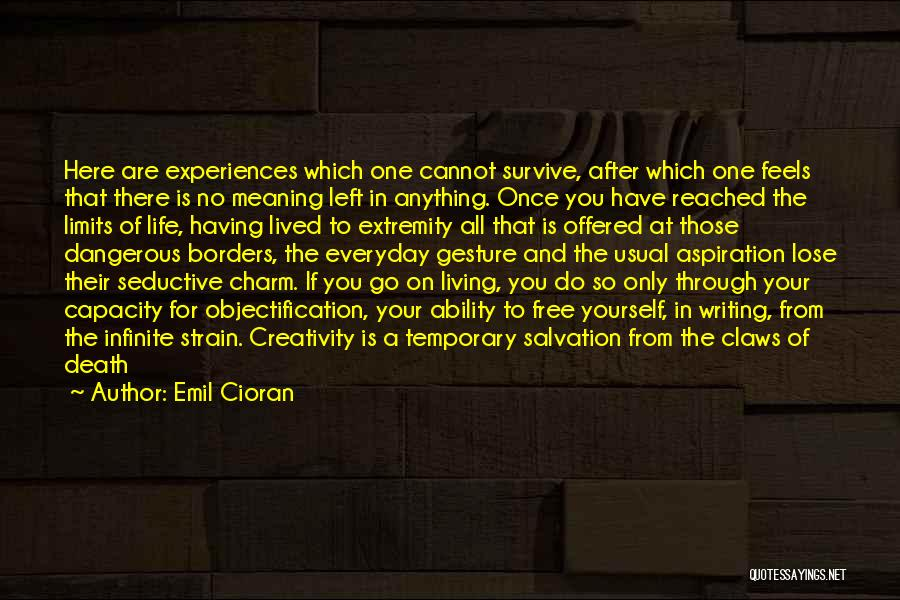 No Life After Death Quotes By Emil Cioran