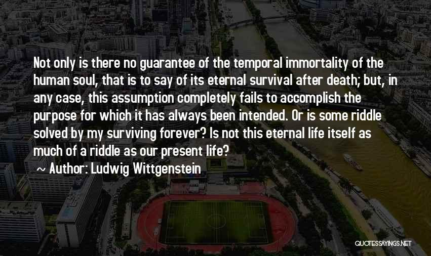 No Life After Death Quotes By Ludwig Wittgenstein