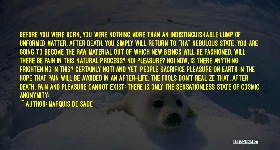No Life After Death Quotes By Marquis De Sade