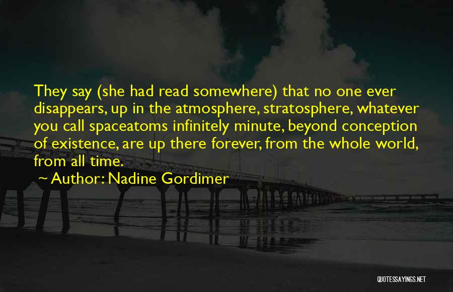 No Life After Death Quotes By Nadine Gordimer