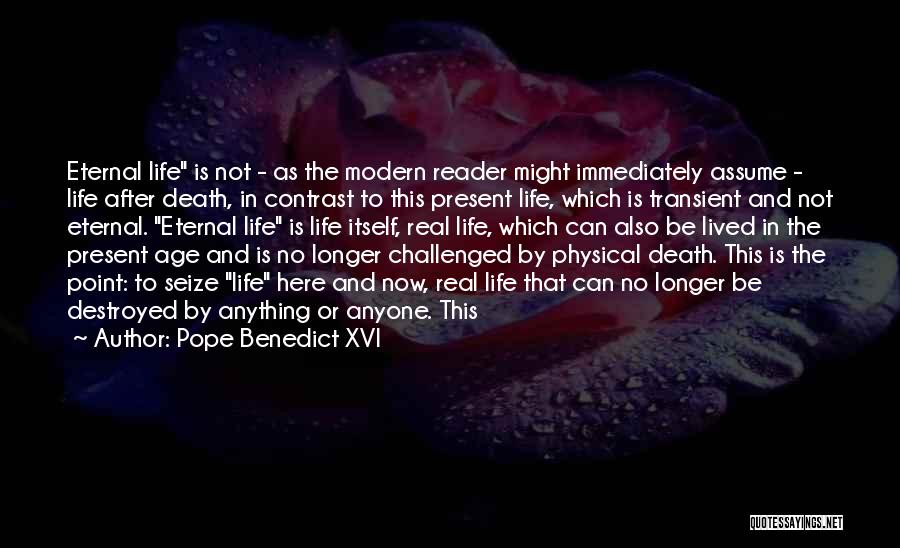 No Life After Death Quotes By Pope Benedict XVI