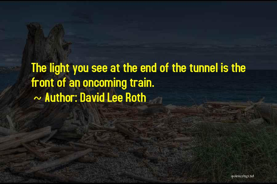 No Light At The End Of The Tunnel Quotes By David Lee Roth