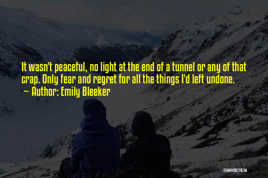 No Light At The End Of The Tunnel Quotes By Emily Bleeker