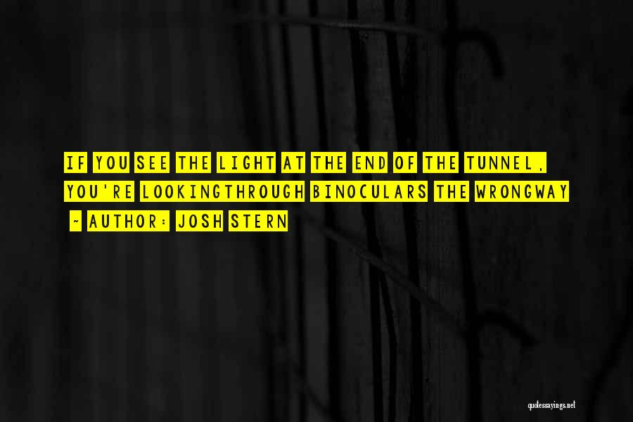 No Light At The End Of The Tunnel Quotes By Josh Stern
