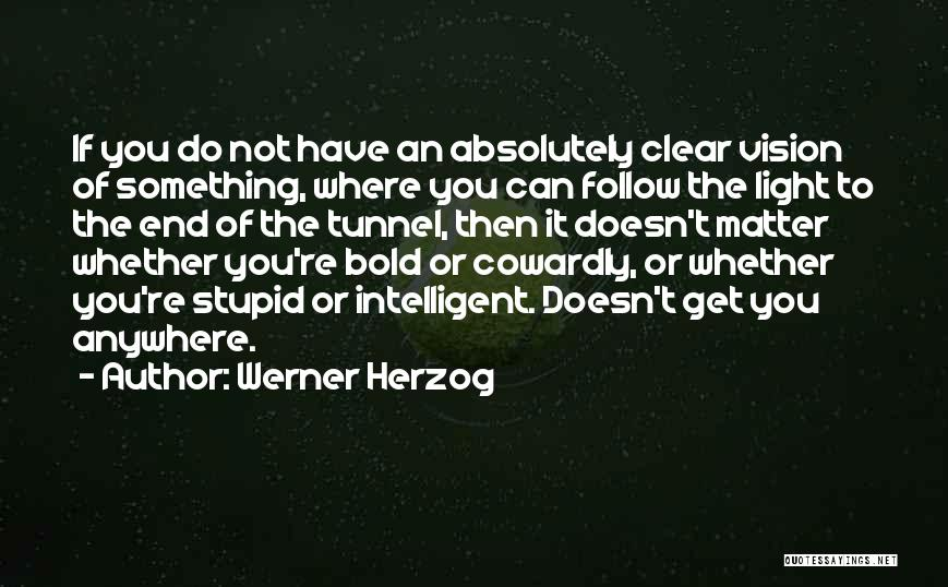 No Light At The End Of The Tunnel Quotes By Werner Herzog