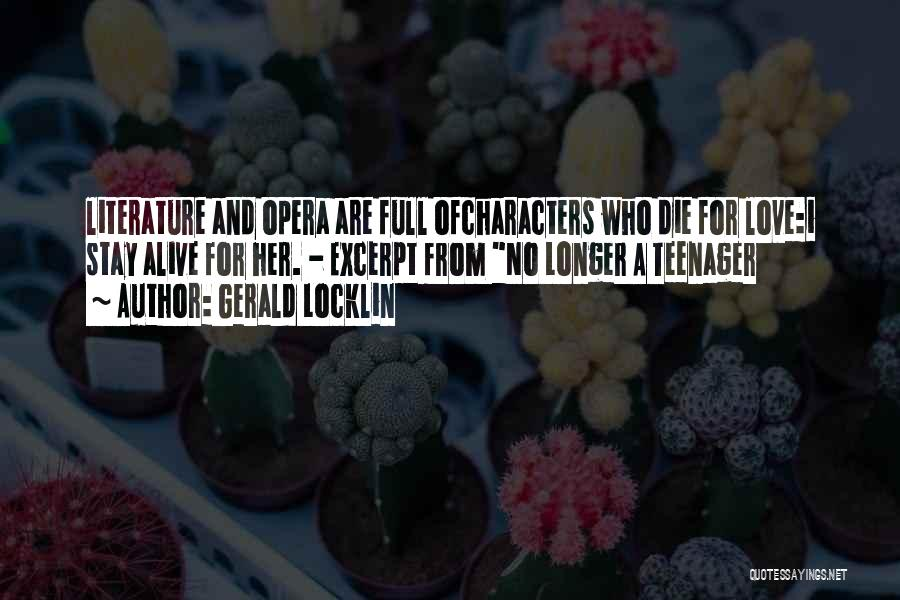 No Longer A Teenager Quotes By Gerald Locklin