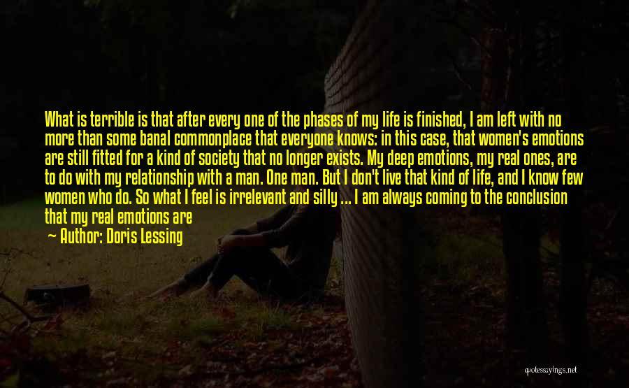 No Longer Caring Quotes By Doris Lessing