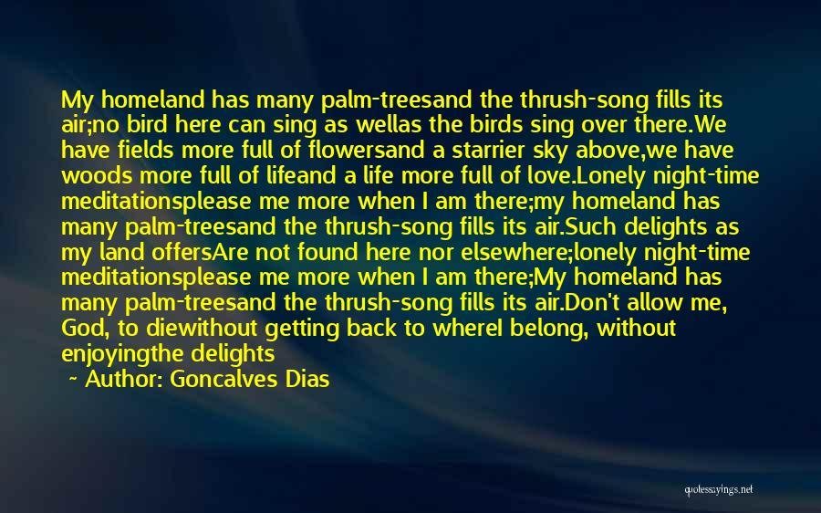 No Love Found Quotes By Goncalves Dias