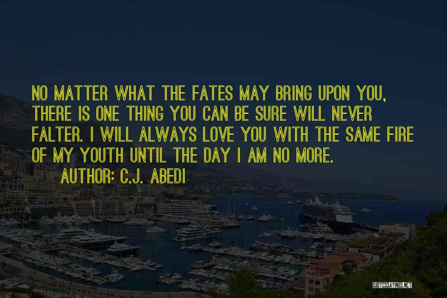 No Matter What I Love You Quotes By C.J. Abedi