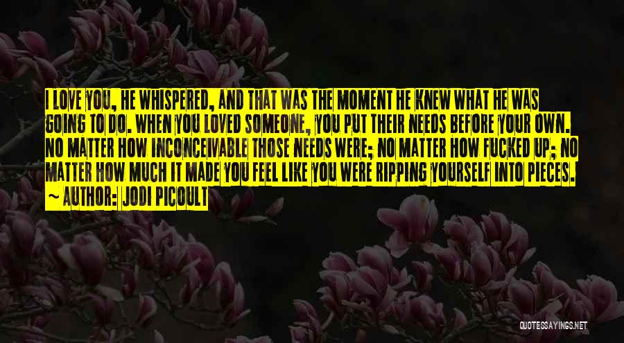 No Matter What I Love You Quotes By Jodi Picoult