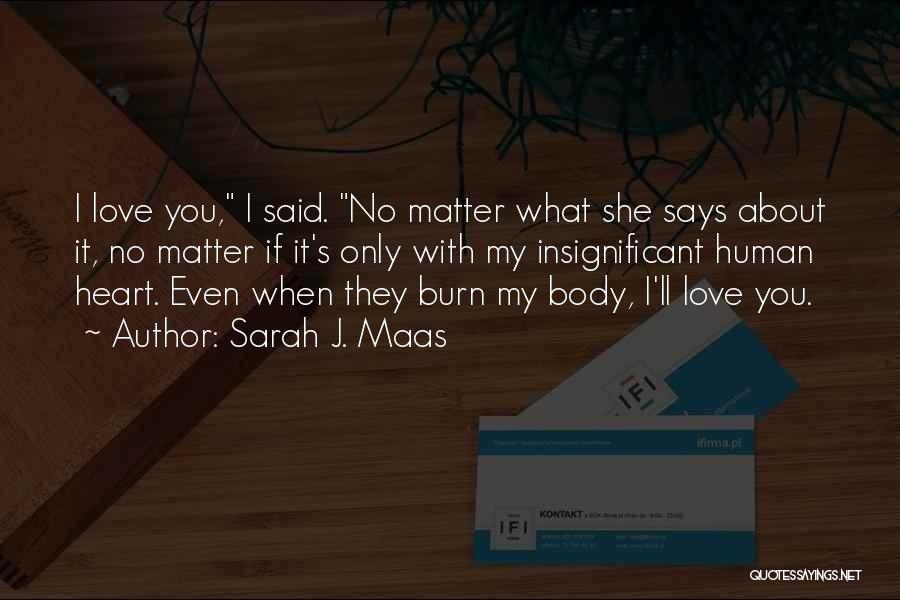 No Matter What I Love You Quotes By Sarah J. Maas