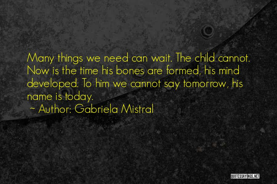No Need To Say Sorry Quotes By Gabriela Mistral
