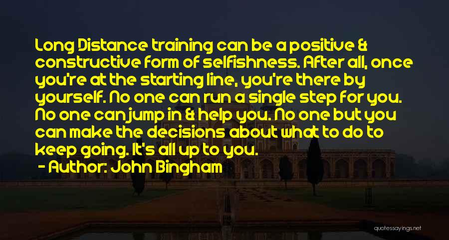 No One Can Help You But Yourself Quotes By John Bingham
