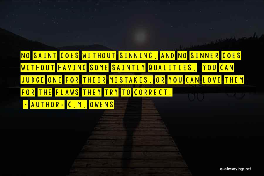 No One Can Judge Quotes By C.M. Owens