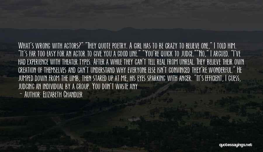 No One Can Judge Quotes By Elizabeth Chandler