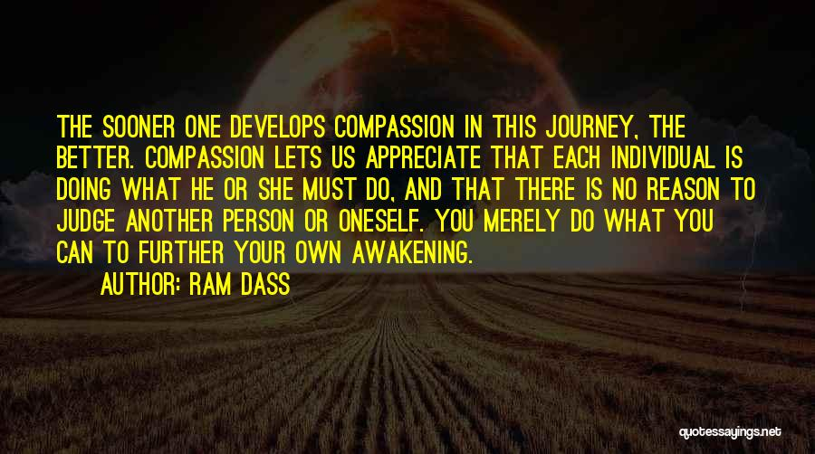 No One Can Judge Quotes By Ram Dass