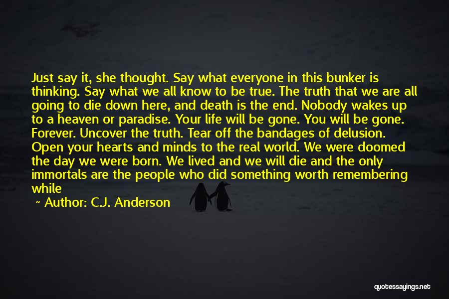 No One In The World Quotes By C.J. Anderson