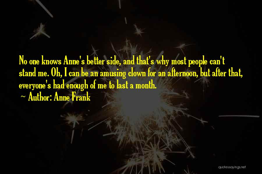 No One Knows Me Quotes By Anne Frank