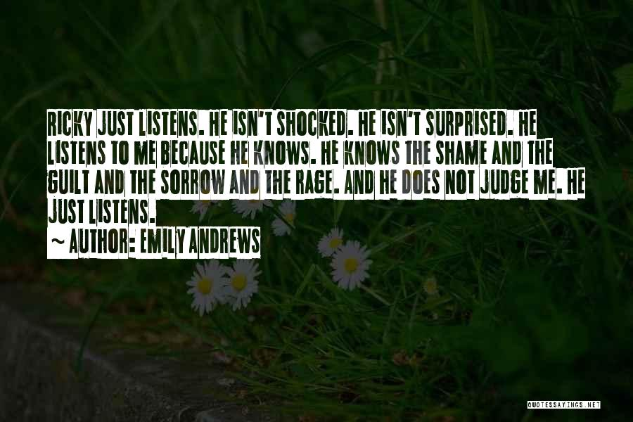 No One Should Judge Quotes By Emily Andrews