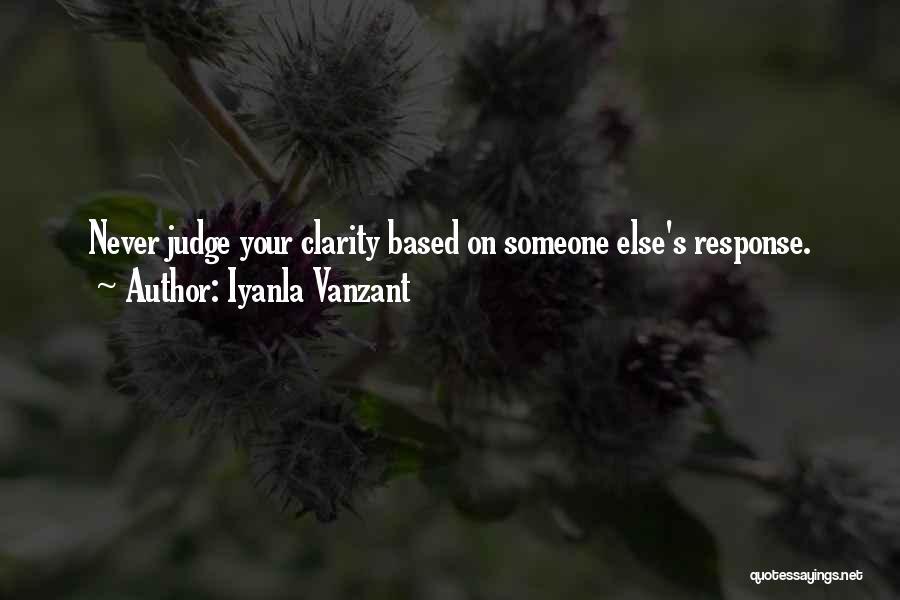 No One Should Judge Quotes By Iyanla Vanzant