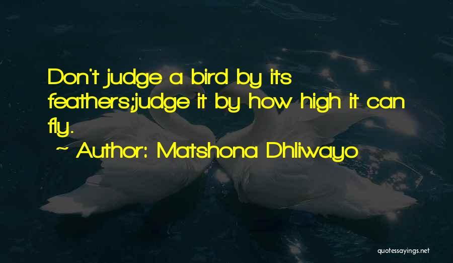 No One Should Judge Quotes By Matshona Dhliwayo