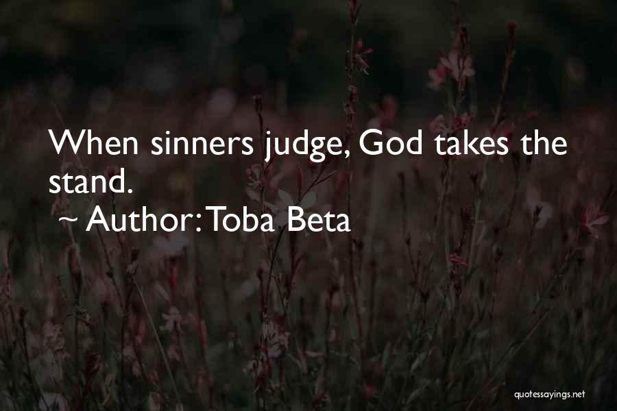 No One Should Judge Quotes By Toba Beta