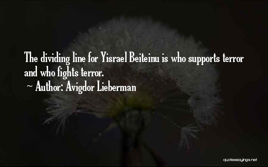 No One Supports You Quotes By Avigdor Lieberman
