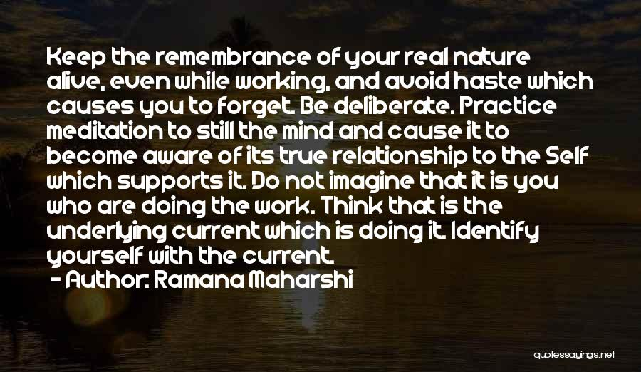 No One Supports You Quotes By Ramana Maharshi
