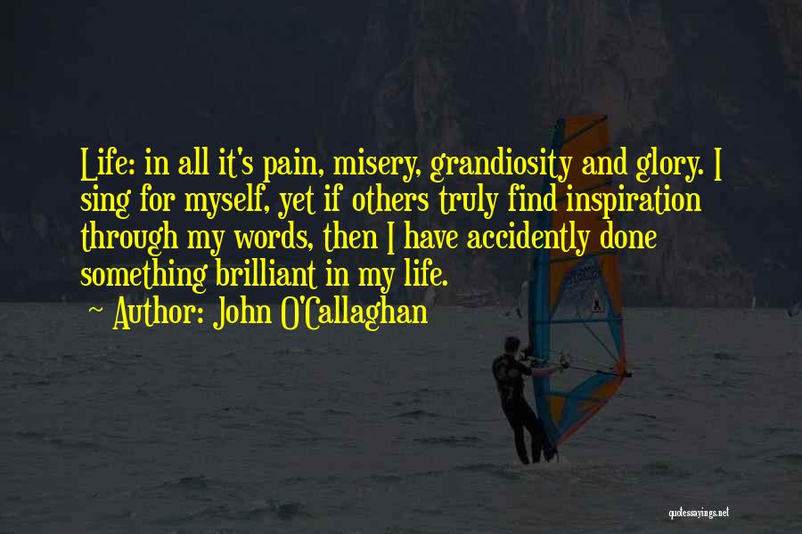 No Pain No Glory Quotes By John O'Callaghan