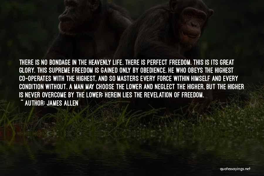 No Perfect Man Quotes By James Allen