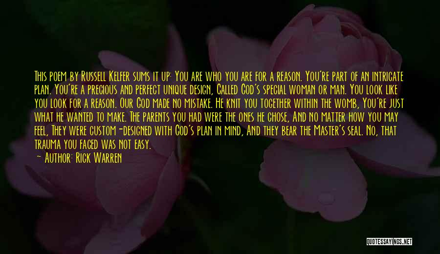 No Perfect Man Quotes By Rick Warren