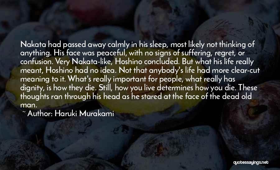 No Regret In Life Quotes By Haruki Murakami