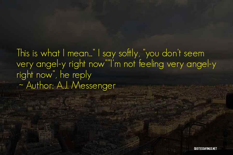 No Reply At All Quotes By A.J. Messenger