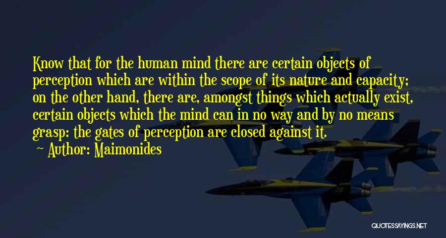 No Scope Quotes By Maimonides