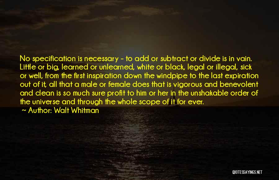 No Scope Quotes By Walt Whitman