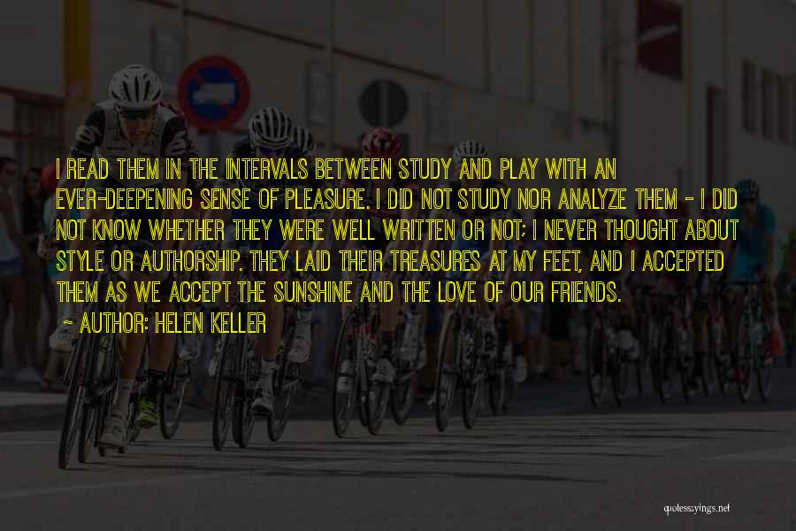 No Sense Of Style Quotes By Helen Keller