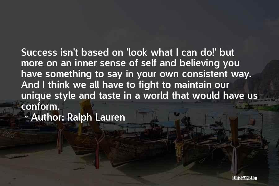 No Sense Of Style Quotes By Ralph Lauren
