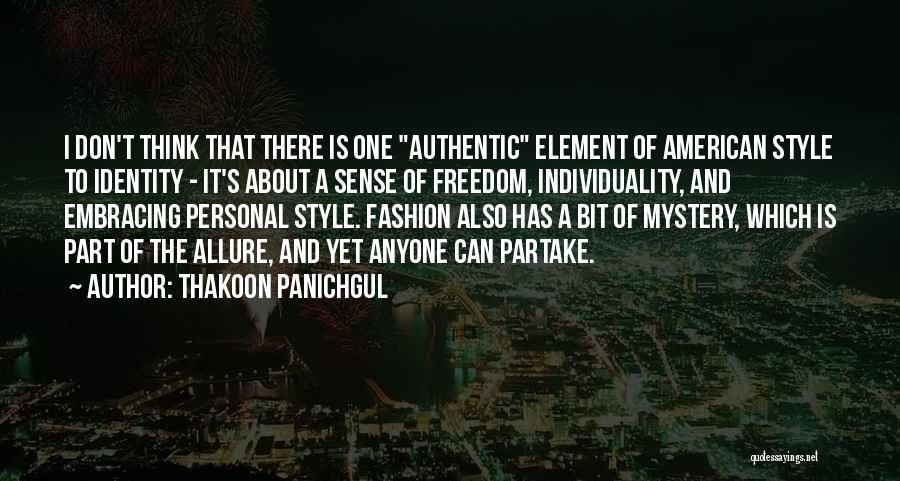 No Sense Of Style Quotes By Thakoon Panichgul