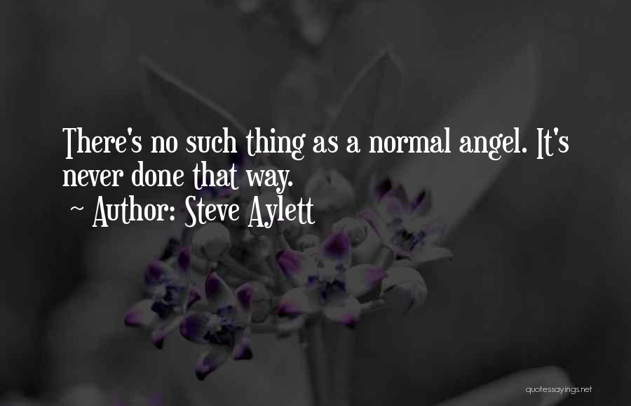 No Such Thing As Normal Quotes By Steve Aylett