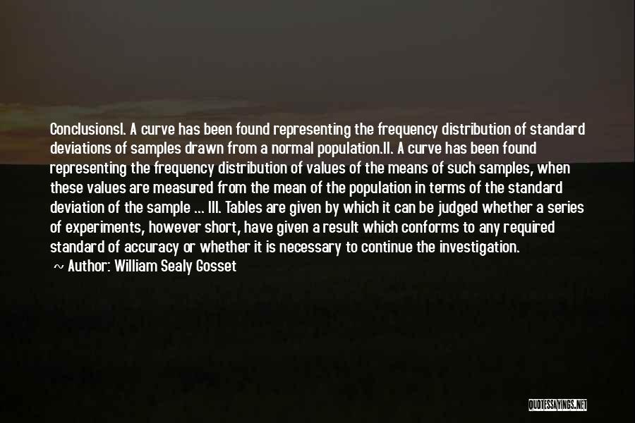 No Such Thing As Normal Quotes By William Sealy Gosset