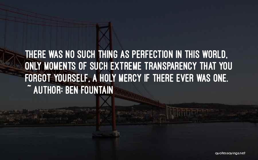 No Such Thing As Perfection Quotes By Ben Fountain
