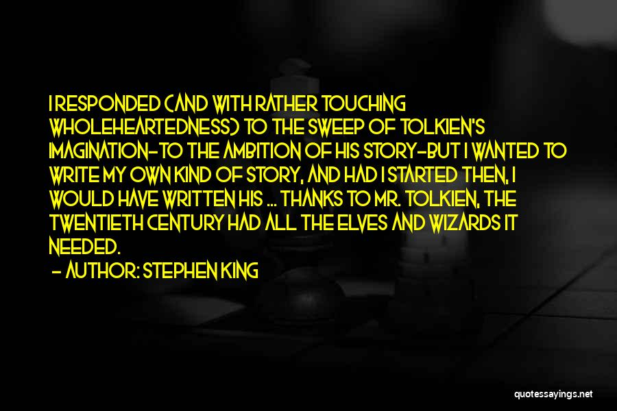 No Thanks Needed Quotes By Stephen King