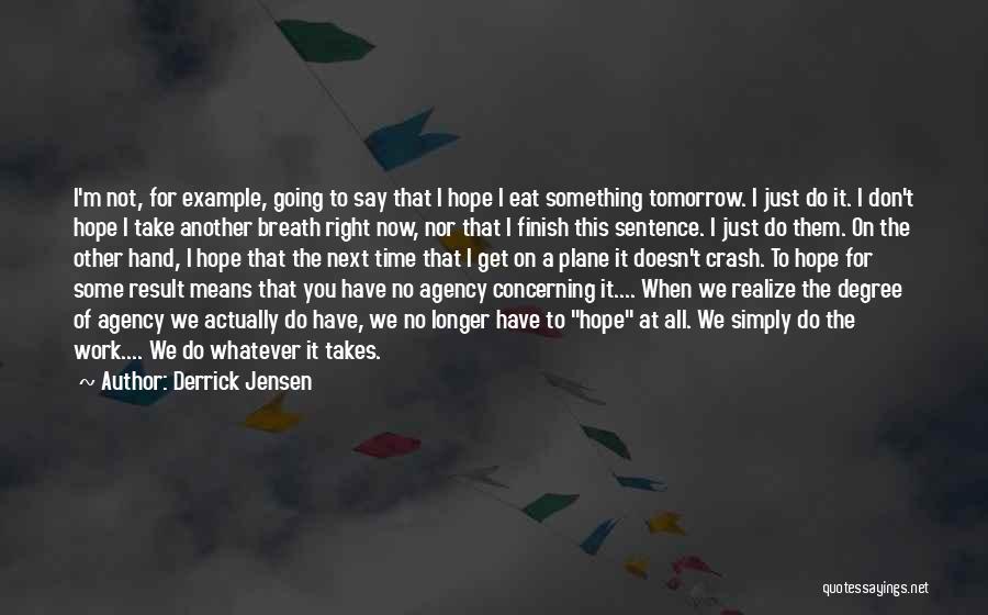 No Work Tomorrow Quotes By Derrick Jensen