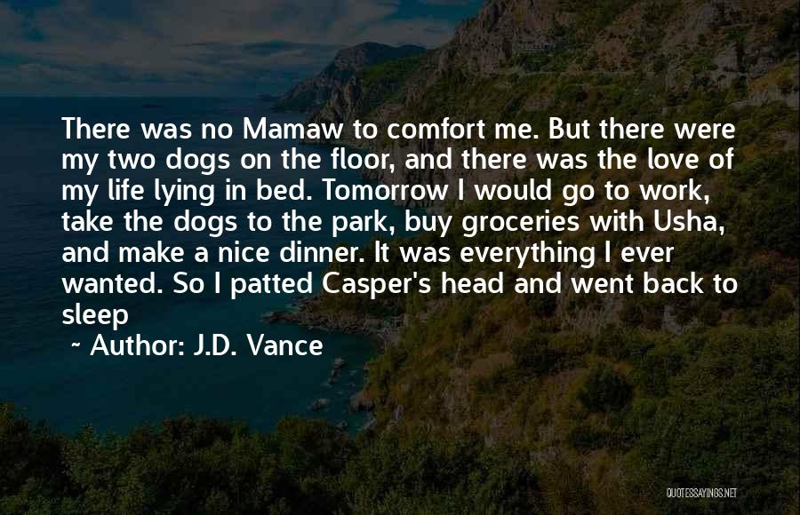 No Work Tomorrow Quotes By J.D. Vance