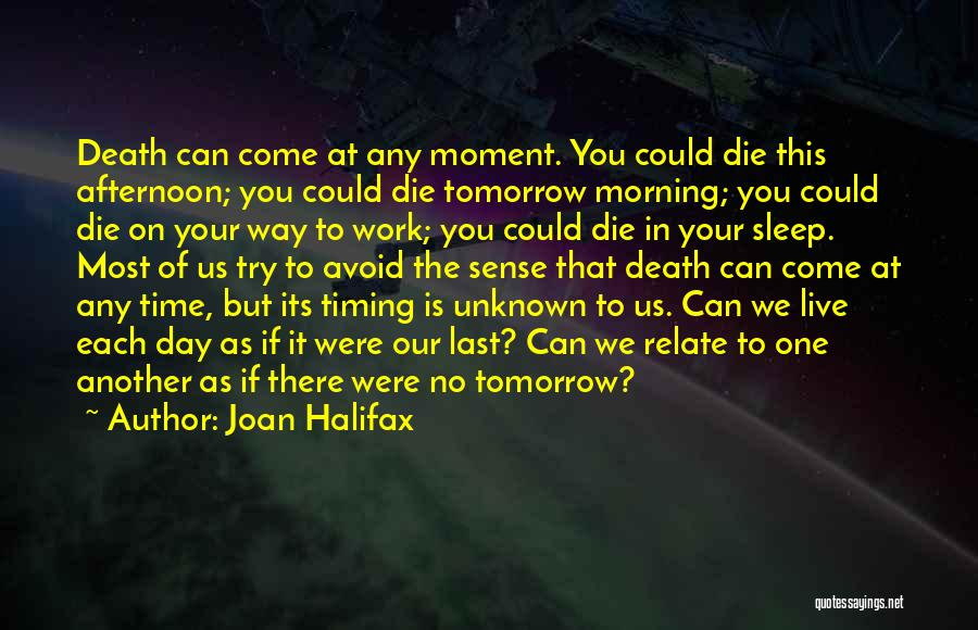 No Work Tomorrow Quotes By Joan Halifax