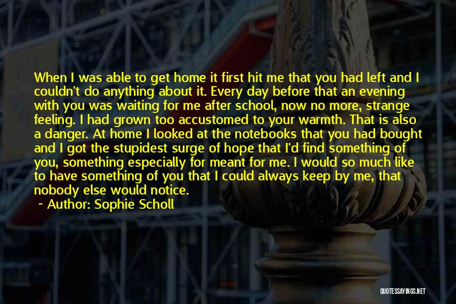 Nobody Got Me Like I Got Me Quotes By Sophie Scholl