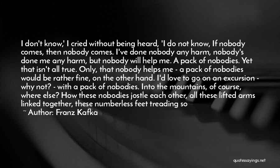Nobody Helps Quotes By Franz Kafka