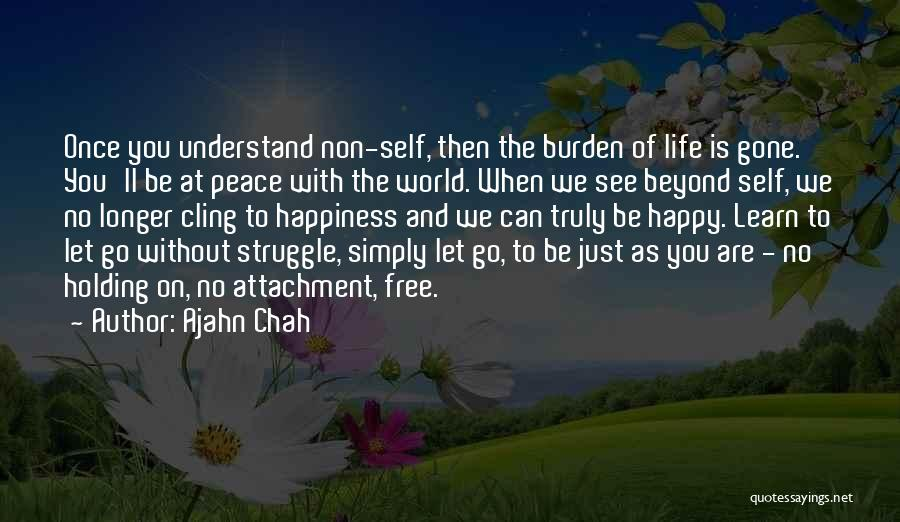 Non Attachment Quotes By Ajahn Chah